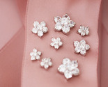 Earring bridal sakura flower crystal studs group thumb155 crop
