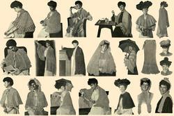 Antique Depression Shawls Capes Scarves Patterns CD'31!