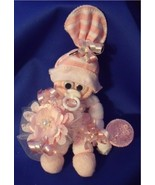 Pink Girl Mini Sock Corsage and Baby Gift in One - $10.95