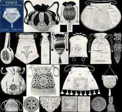 Antique Edwardian Crochet Tatting Purses Patterns Book