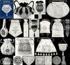 Antique Edwardian Crochet Tatting Purses Patterns Book - $12.99