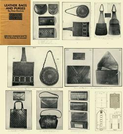 Antique Leather Work Purses Reference CD 1927!