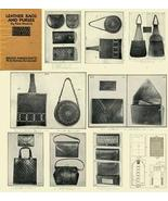 Antique Leather Work Purse Purses Bag Bags Pattern CD! - $12.99