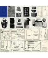 Antique Leather Work Purse Bag Patterns SCA CD 1925!#3 - $12.99