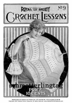 Titanic Era Royal Society Crochet Lessons SC Book 1917!