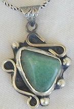 Green  pendant hand made P13 - $53.00