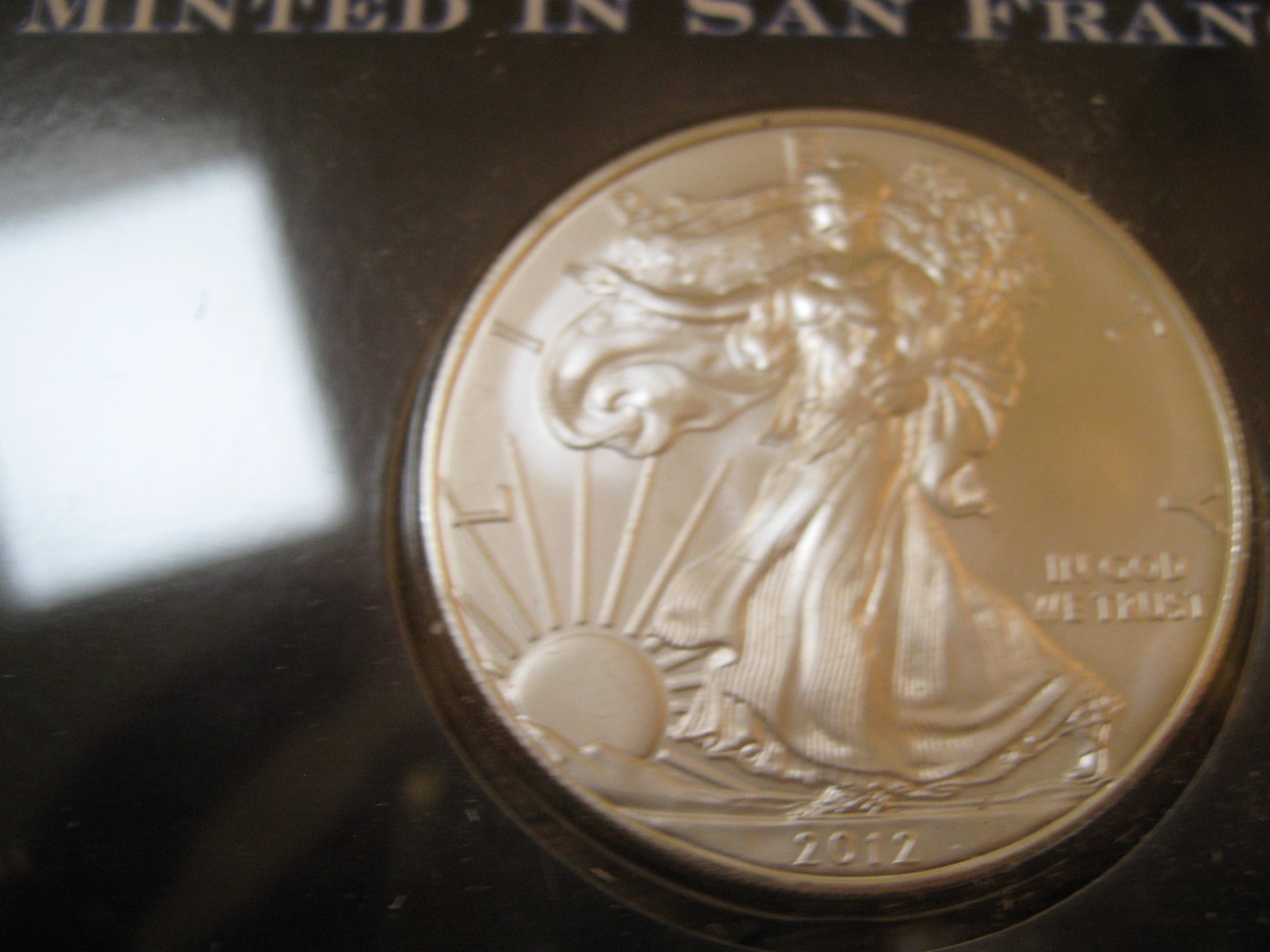 2012 Silver Eagle Minted In San Francisco , 1 ounce .999 Pure Silver image 3