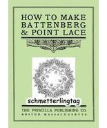 Battenberg Point Lace Book Instructions 1900 - $14.99