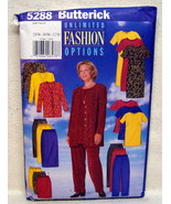 Butterick PLUS SZ.#5288 Jacket Dress Tunic Skirt Pant Sz 28W-30W-32W - $7.95