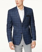 Michael Kors Mens Classic-Fit Blue & Gray Plaid Sport Coat; 38 REGULAR #585 - $99.99