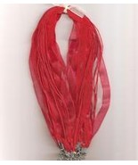 "Red Volie W Metal Lobster Chain 46 CM 1/2"" Silk S  - $1.75"