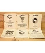 6 Vintage Zenith Service Manuals Televisions FM-AM-WB Receiver TM-13 TM-... - $19.79