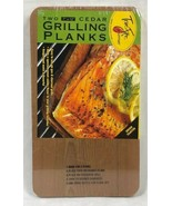 """New True Fire Gourmet Cedar Two Grilling Planks 7 x 12"""" Gas or Charcoal ... - $7.83"""