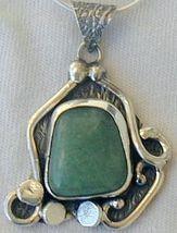 Green  silver pendant  P19  - $47.00