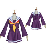 No Game No Life Shiro Purple Sailor Cosplay Costume - $64.24