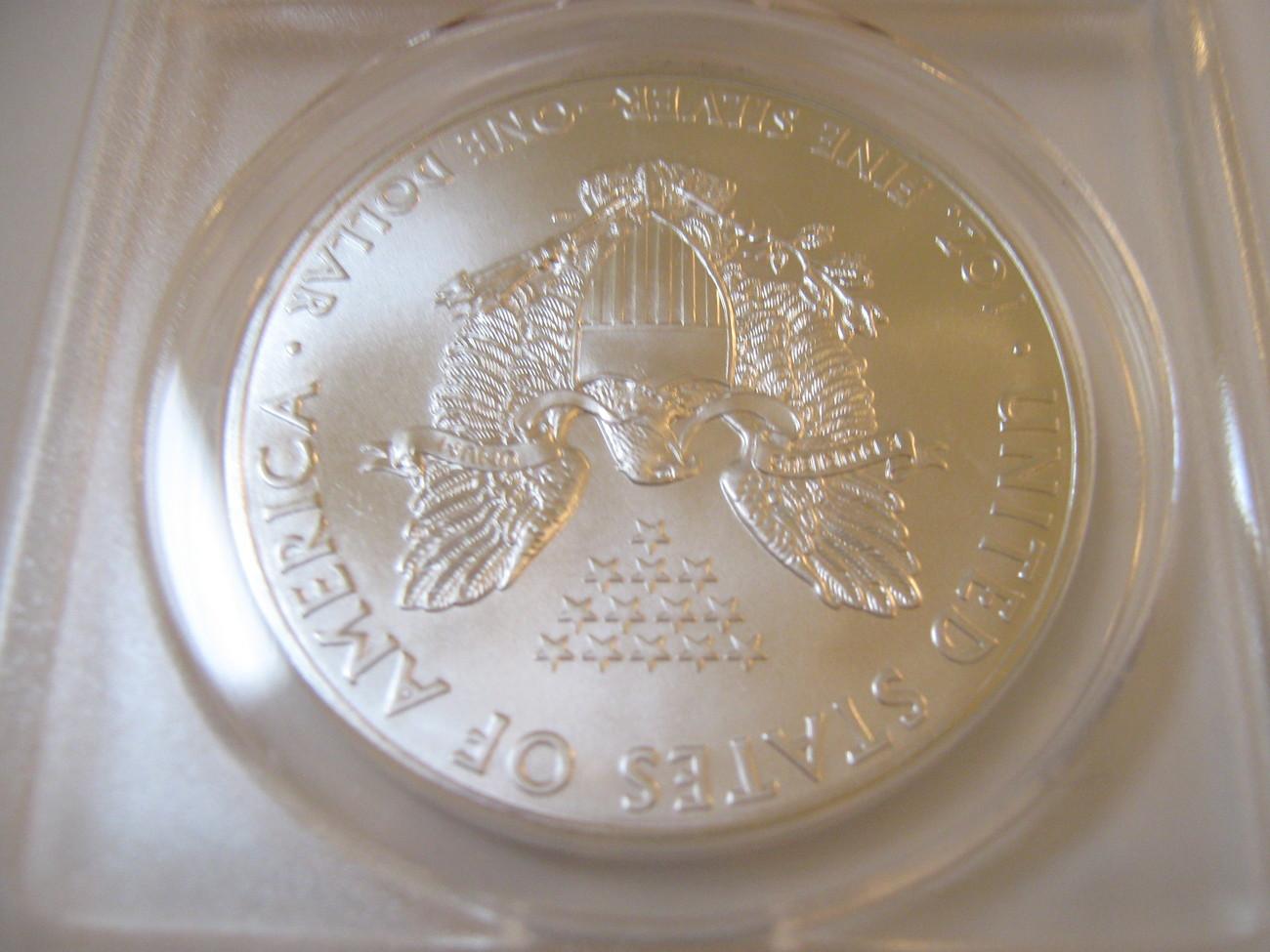 2012 Silver Eagle , ANACS , MS 69 image 3