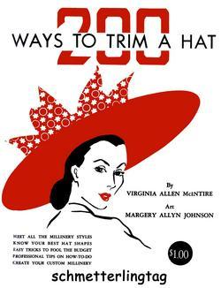 Millinery Book Hat Making Make Hats Trim McIntire 1949