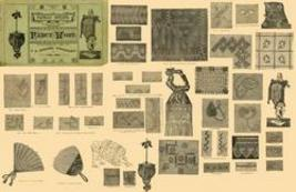 Antique Victorian Fancy Work Embroidery Patterns CD1882 - $13.99