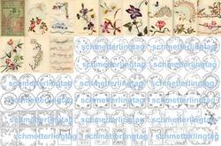 Antique Victorian Embroidery Reference Patterns CD 1889