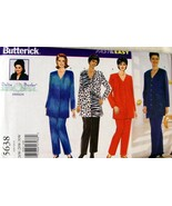 Butterick PLUS SZ Delta Burke Design Pattern #5638 Pants & Top 26W-28W-30W  - $7.95
