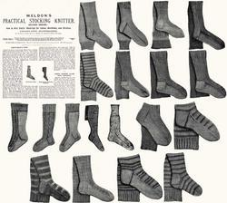 Antique Victorian Knitting Stocking Patterns HC 1885