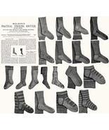 Antique Victorian Knitting Stocking Patterns HC 1885 - $12.99