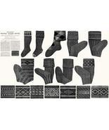 Antique Victorian Knitting Stocking Patterns HC c1910! - $12.99