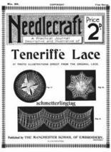 Antique Edwardian Needlecraft Teneriffe Lace Book 1909! - $14.99