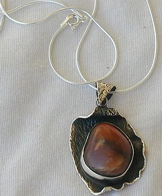 Reddish silver pendant P15