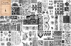 Antique Victorian Bead Work Cross Stitch Patterns CD!