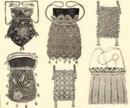 Antique Edwardian Crochet Theatre Purse Patterns '12!#1 - $12.99