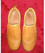 Roper Performance Slip-Ons Tan Faux Ostrich Leather Loafer Mens Shoes Si... - $34.97
