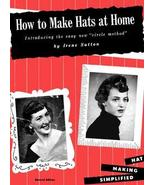 MILLINERY/Hat Making Designs Patterns SUTTON Book '50s! - $14.99