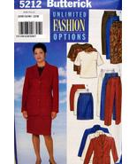Butterick Fast & Easy PLUS SZ.Pattern #5212 Jacket Top Skirt Pant SZ 28W... - $7.95