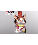 Katherine's Collection calico Cat Christmas tree Ornament Red Hat 22-24376 - $16.99