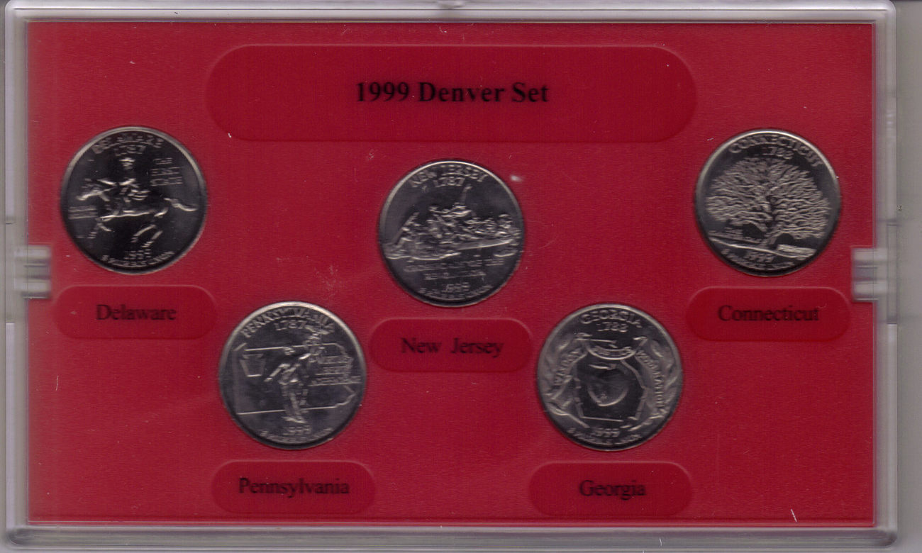 1999 DENVER MINT EDITION STATE QUARTER COLLECTION