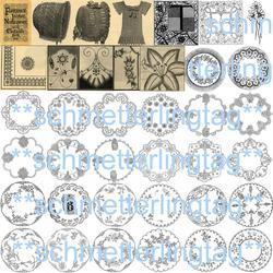 Antique Victorian Embroidery Doily Patterns SCA CD1896!