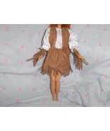 4 Pc Western Style Faux Suede Fringed Outfit fits Barbie and most Fashio... - $5.95