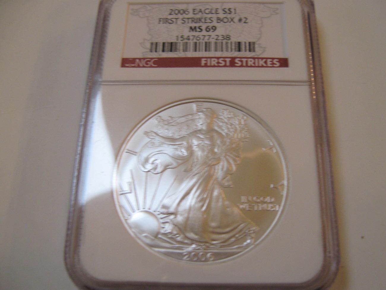 2006 Silver Eagle , NGC , MS 69