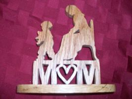 Mom wooden display and sign - $13.00