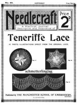 Antique Edwardian Needlecraft Teneriffe Lace CD 1909!