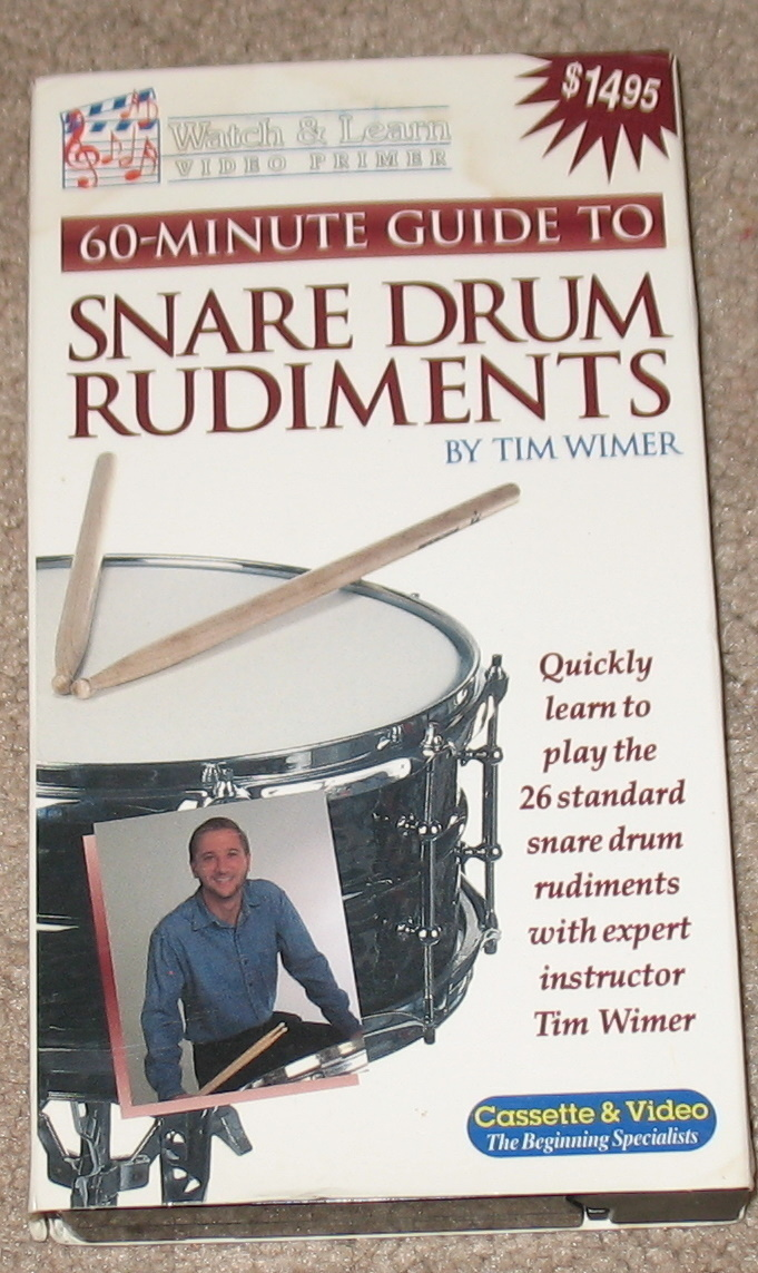 Snare Drum Rudiments VHS by Tim Wimer
