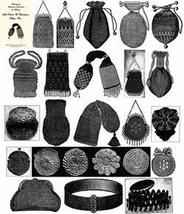 Antique Victorian Purse Bag Bags Patterns CD Book 1900! - $14.99