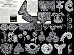 Antique Victorian Irish Crochet Patterns HC c1895! #2