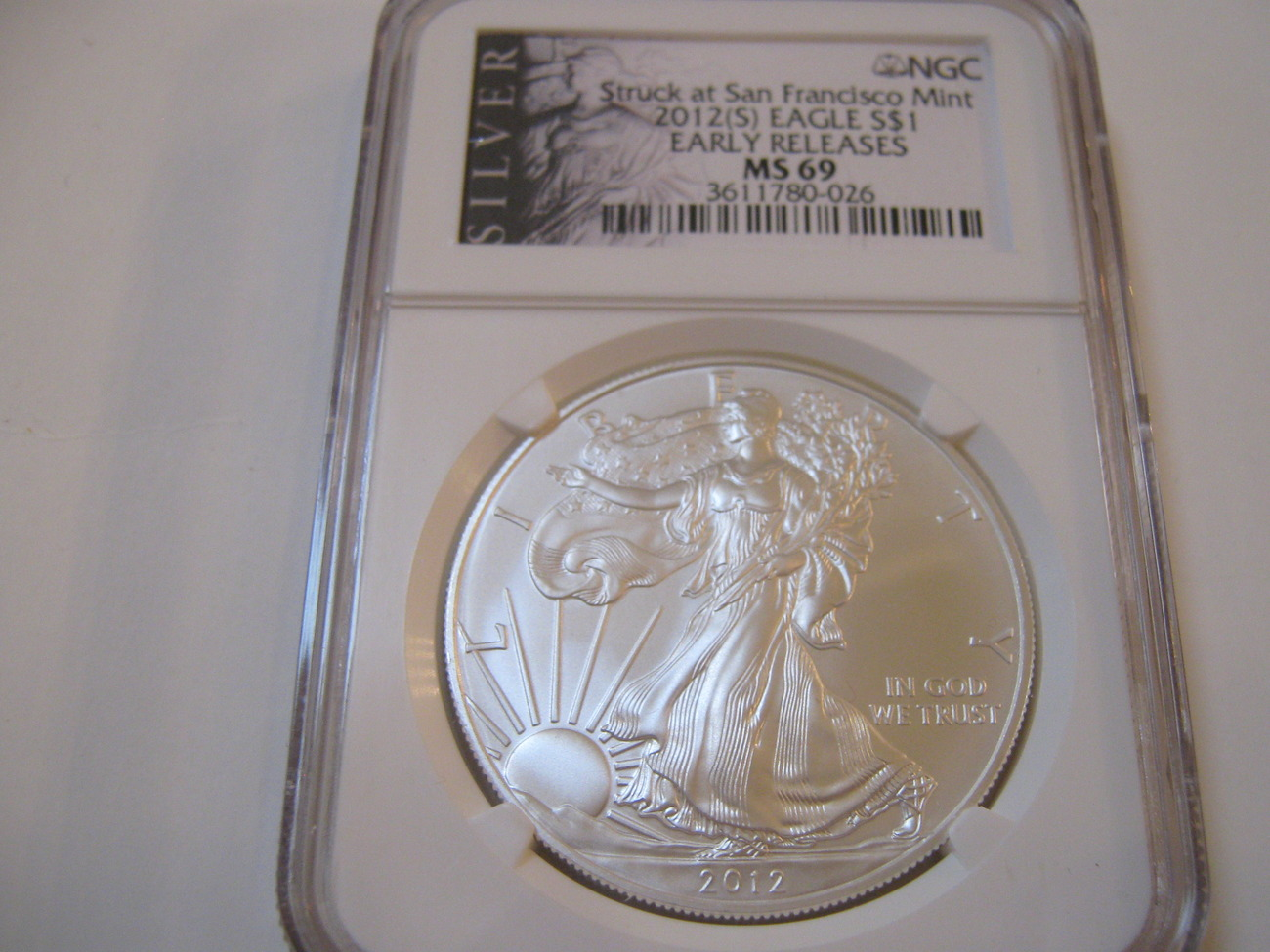 2012(S) Silver Eagle , NGC , MS 69