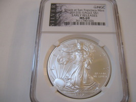 2012(S) Silver Eagle , NGC , MS 69 image 1