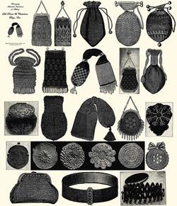 Antique Victorian Purse Bag Bags Patterns CD Book 1900!