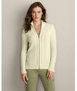 Eddie Bauer Women's Luna Twist Zip Cardigan, Cotton Blend, Size M, Pre-o... - $26.99