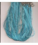 "Teal  Blue  W Metal Lobster Chain 46 CM 1/4"" Silk S - $1.75"