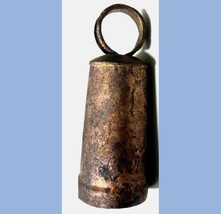 1848 antique METAL COWBELL HAND WROUGHT - $124.95